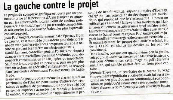 La gauche contre le projet 18.06.2014