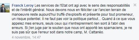 raéponse Franck LEROY 4.11